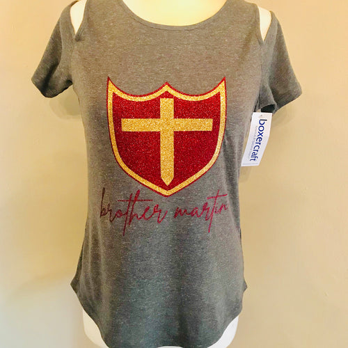 Brother Martin Ladies Cold Shoulder Tee