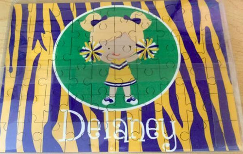 Custom Printed LSU Cheerleader Puzzle