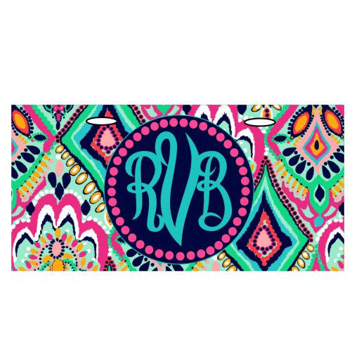 Monogrammed Custom Car License Plate