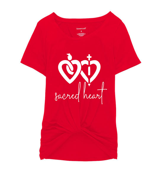 Sacred Heart Ladies Twisted Front Tee