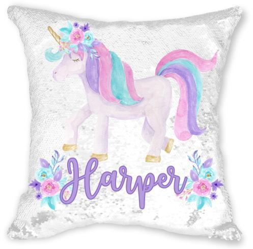 Personalized Unicorn Sequin Pillowcase