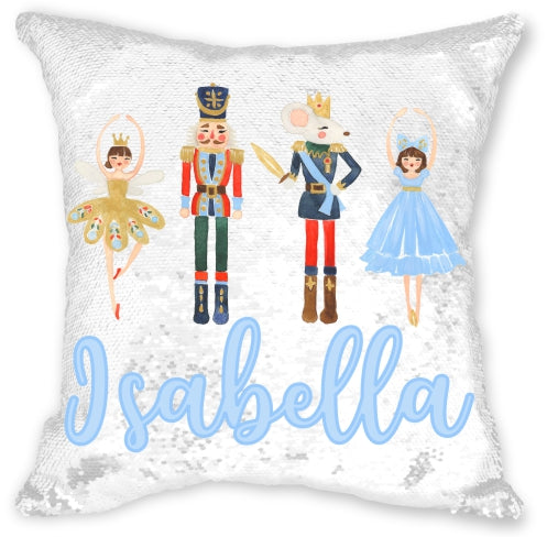 Personalized Nutcracker Sequin Pillowcase