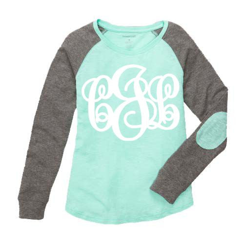 Monogrammed Preppy Elbow Patch Shirt