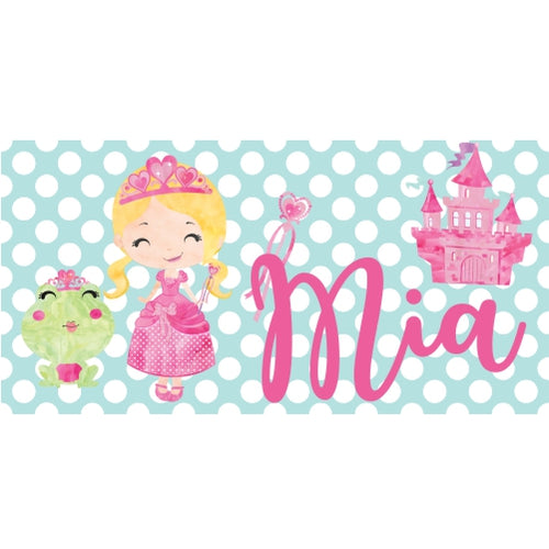 personalized princess beach towel