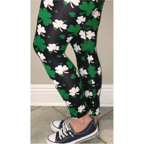 Ladies St. Patrick's Shamrock Leggings