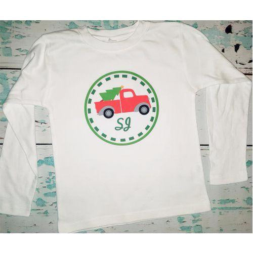 Personalized Boy's Christmas Shirt