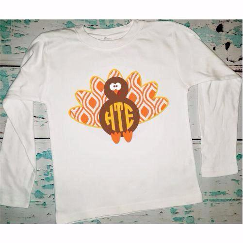 Personalized Boy's Turkey Shirt