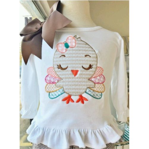 Personalized Girl's Thanksgiving Turkey Shirt