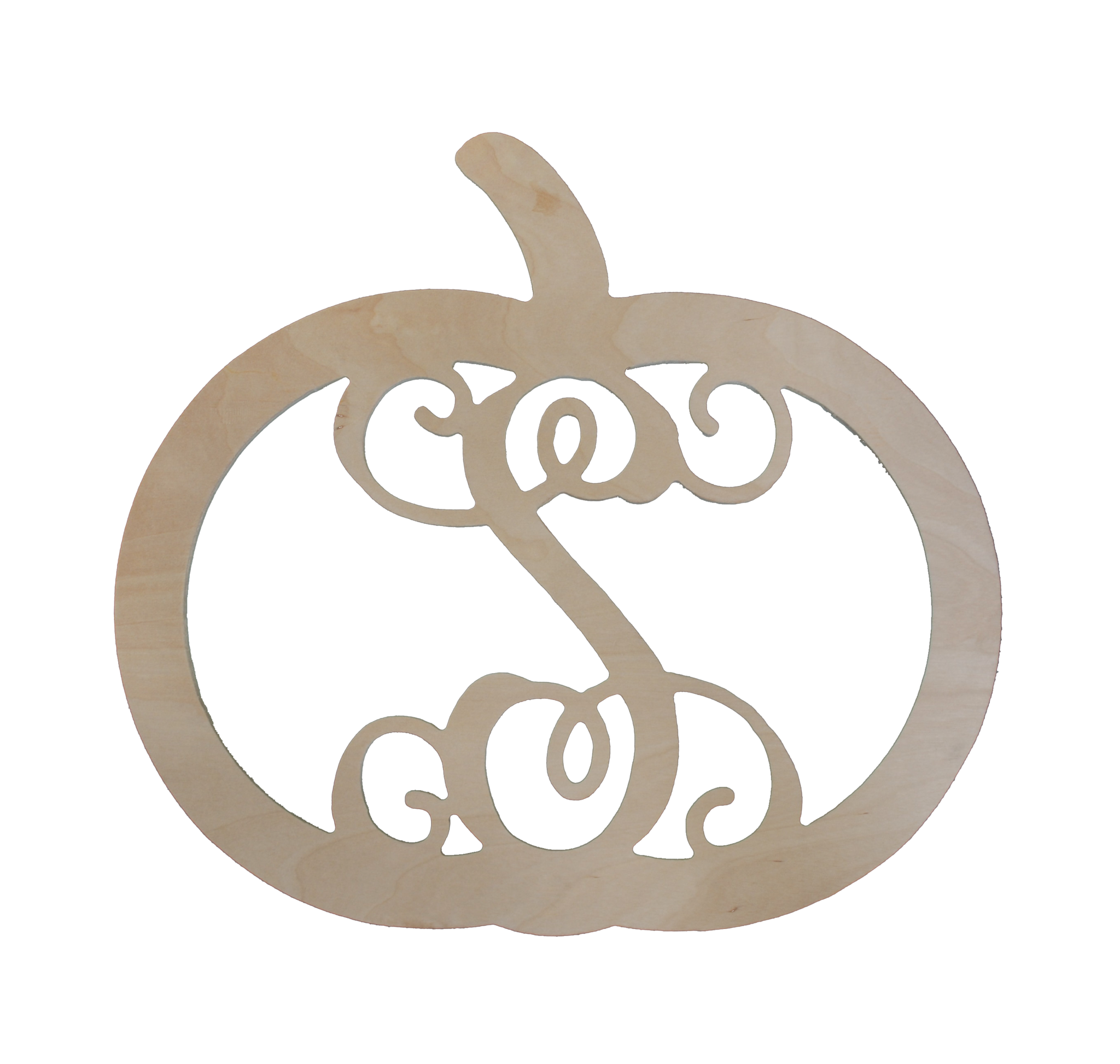 Pumpkin Wood Monogram