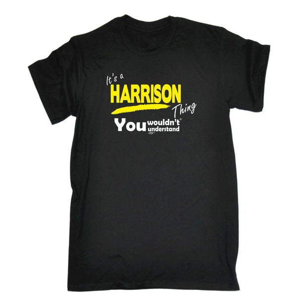 123t Funny Tee - Harrison V1 Surname Thing - Mens T-Shirt