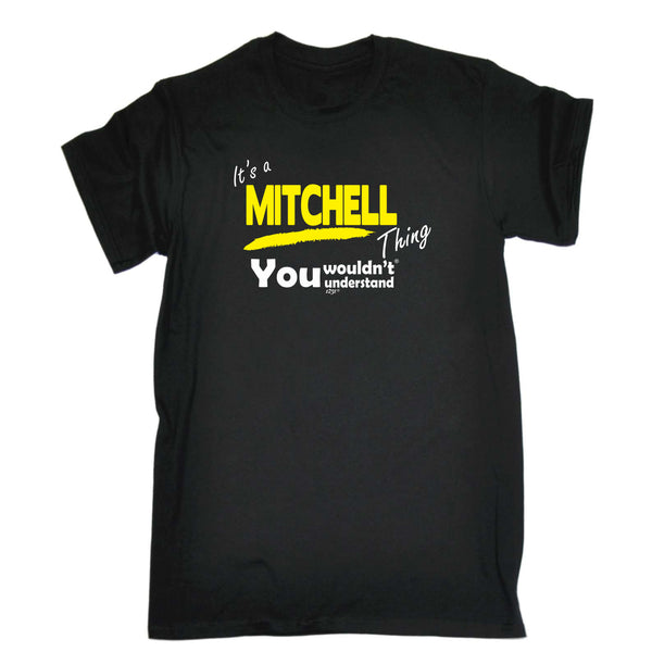 123t Funny Tee - Mitchell V1 Surname Thing - Mens T-Shirt