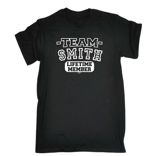 123t Funny Tee - Smith V2 Team Lifetime Member - Mens T-Shirt