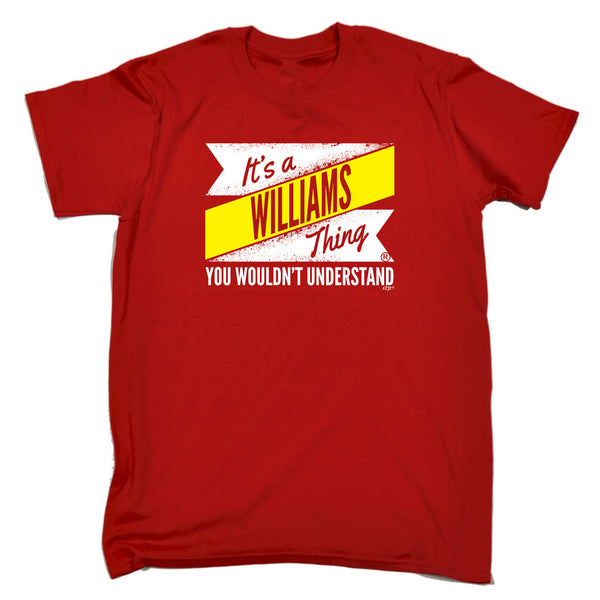 123t Funny Tee - Williams V2 Surname Thing - Mens T-Shirt