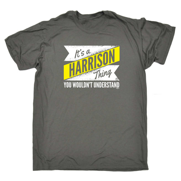 123t Funny Tee - Harrison V2 Surname Thing - Mens T-Shirt