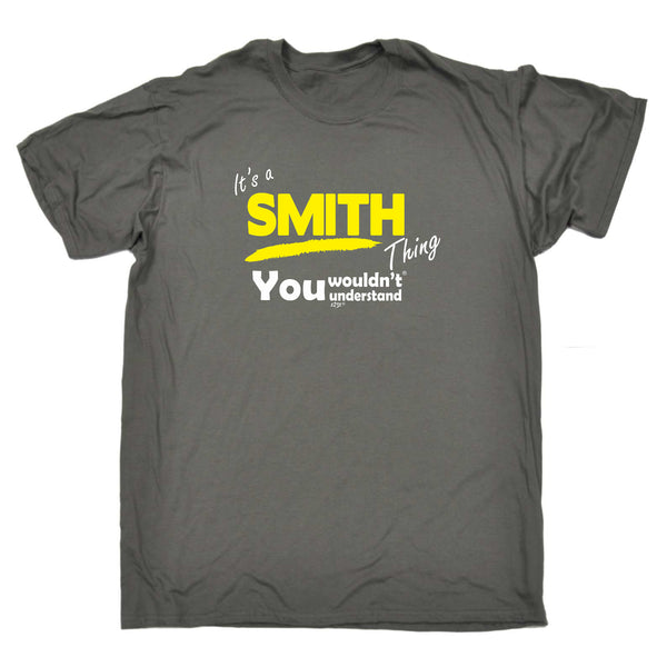 123t Funny Tee - Smith V1 Surname Thing - Mens T-Shirt