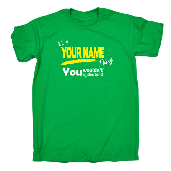 123t Funny Tee - Your Name V1 Surname Thing - Mens T-Shirt