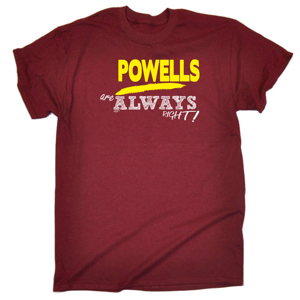 123t Funny Tee - Powells Always Right - Mens T-Shirt