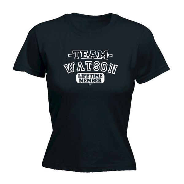 123t Funny Tee - Watson V2 Team Lifetime Member -  Womens Fitted Cotton T-Shirt Top T Shirt