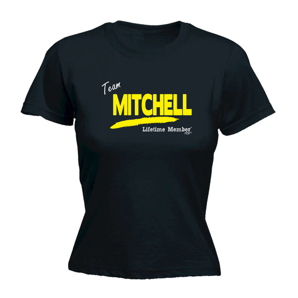 123t Funny Tee - Mitchell V1 Lifetime Member -  Womens Fitted Cotton T-Shirt Top T Shirt