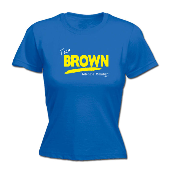 123t Funny Tee - Brown V1 Lifetime Member -  Womens Fitted Cotton T-Shirt Top T Shirt