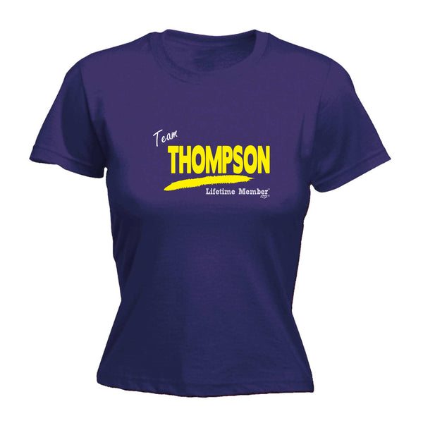 123t Funny Tee - Thompson V1 Lifetime Member -  Womens Fitted Cotton T-Shirt Top T Shirt