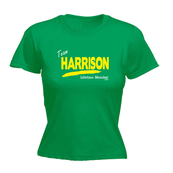 123t Funny Tee - Harrison V1 Lifetime Member -  Womens Fitted Cotton T-Shirt Top T Shirt