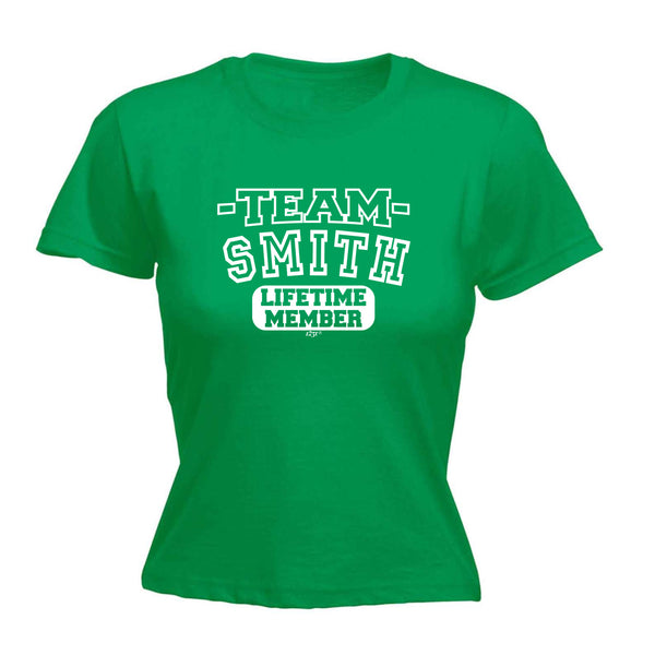123t Funny Tee - Smith V2 Team Lifetime Member -  Womens Fitted Cotton T-Shirt Top T Shirt