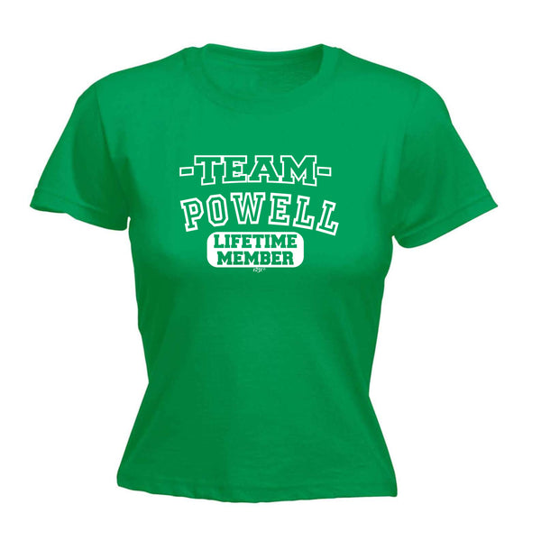 123t Funny Tee - Powell V2 Team Lifetime Member -  Womens Fitted Cotton T-Shirt Top T Shirt