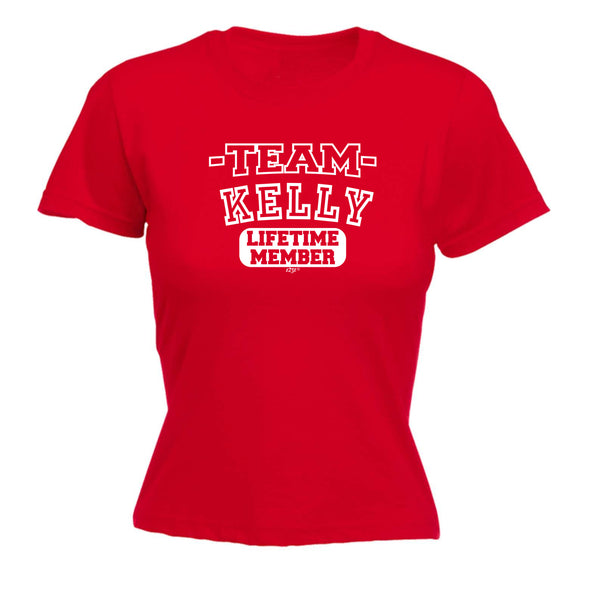 123t Funny Tee - Kelly V2 Team Lifetime Member -  Womens Fitted Cotton T-Shirt Top T Shirt