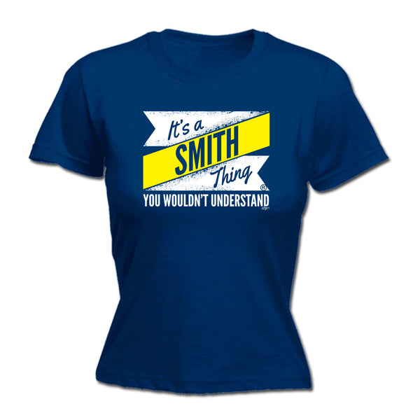 123t Funny Tee - Smith V2 Surname Thing -  Womens Fitted Cotton T-Shirt Top T Shirt