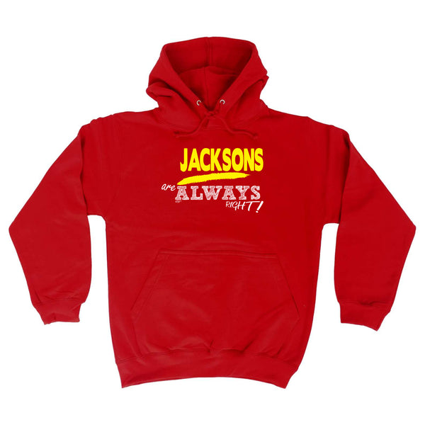 123t Funny Tee - Jacksons Always Right -  Womens Fitted Cotton T-Shirt Top T Shirt
