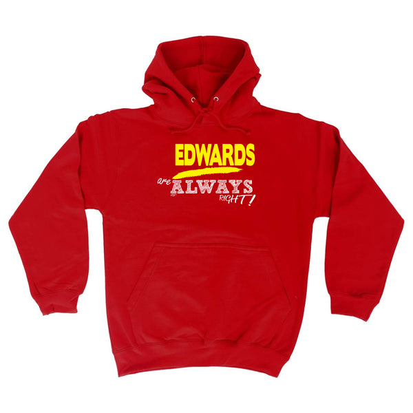 123t Funny Tee - Edwards Always Right -  Womens Fitted Cotton T-Shirt Top T Shirt