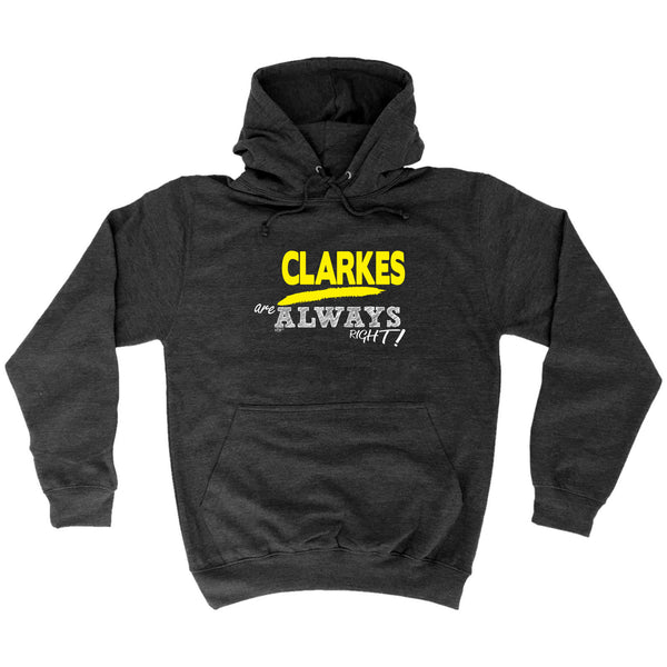 123t Funny Tee - Clarkes Always Right -  Womens Fitted Cotton T-Shirt Top T Shirt