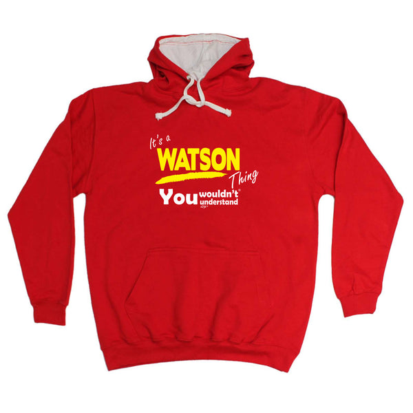 123t Funny Tee - Watson V1 Surname Thing -  Womens Fitted Cotton T-Shirt Top T Shirt