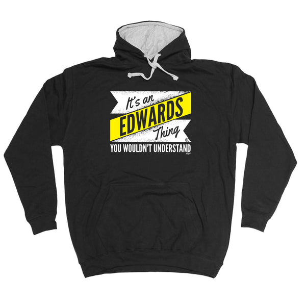 123t Funny Tee - Its An Edwards V2 Surname Thing -  Womens Fitted Cotton T-Shirt Top T Shirt