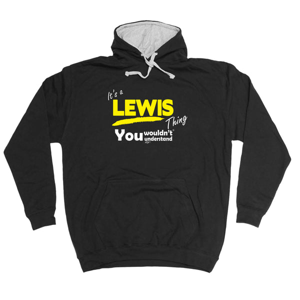 123t Funny Tee - Lewis V1 Surname Thing -  Womens Fitted Cotton T-Shirt Top T Shirt