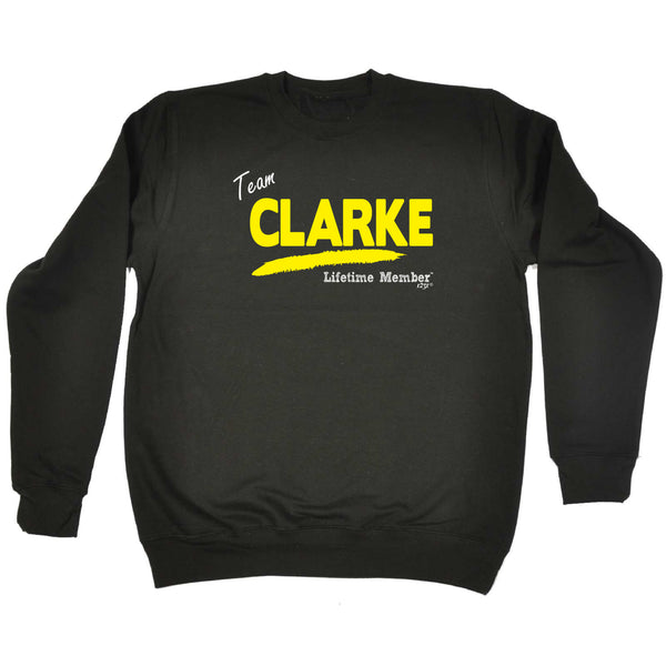 123t Funny Sweatshirt - Clarke V1 Lifetime Member - Sweater Jumper