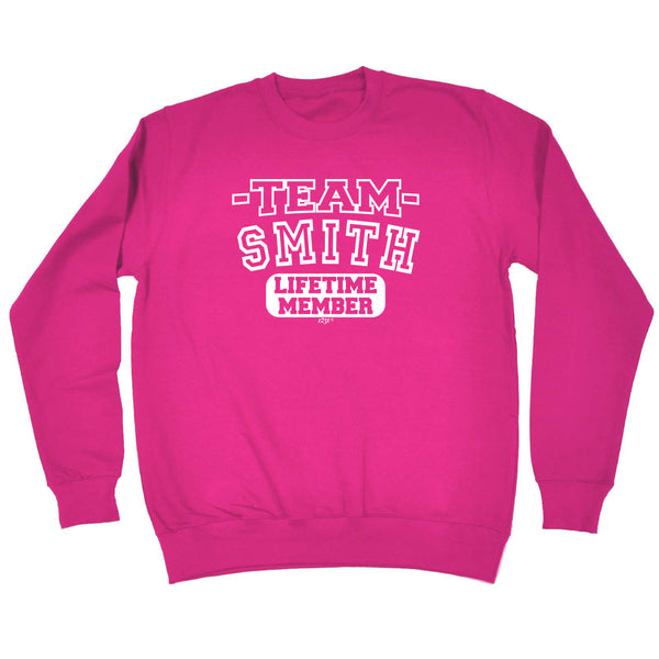 123t Funny Sweatshirt - Smith V2 Team Lifetime Member - Sweater Jumper