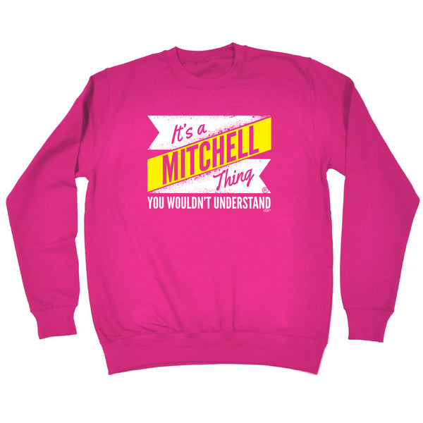 123t Funny Sweatshirt - Mitchell V2 Surname Thing - Sweater Jumper