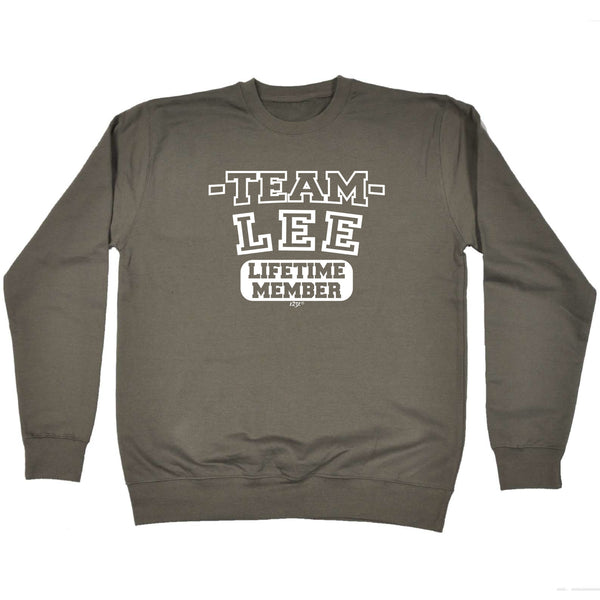 123t Funny Sweatshirt - Lee V2 Team Lifetime Member - Sweater Jumper