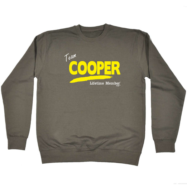 123t Funny Sweatshirt - Cooper V1 Lifetime Member - Sweater Jumper