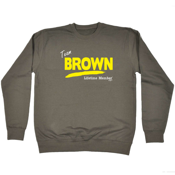 123t Funny Sweatshirt - Brown V1 Lifetime Member - Sweater Jumper