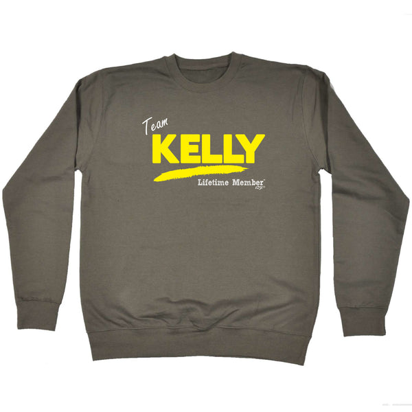 123t Funny Sweatshirt - Kelly V1 Lifetime Member - Sweater Jumper