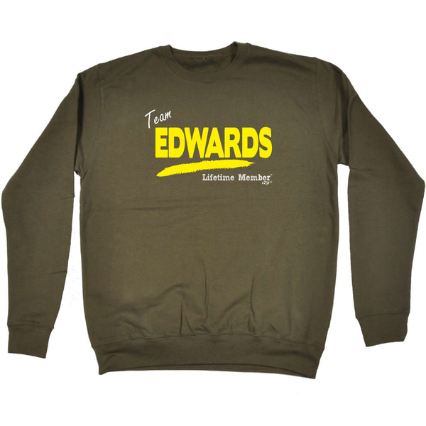 123t Funny Sweatshirt - Edwards V1 Lifetime Member - Sweater Jumper
