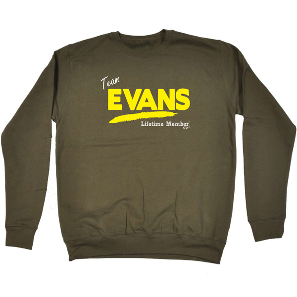 123t Funny Sweatshirt - Evans V1 Lifetime Member - Sweater Jumper