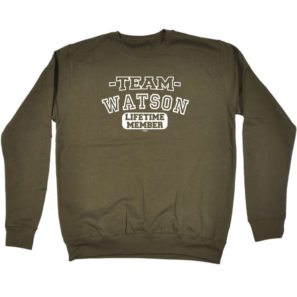 123t Funny Sweatshirt - Watson V2 Team Lifetime Member - Sweater Jumper