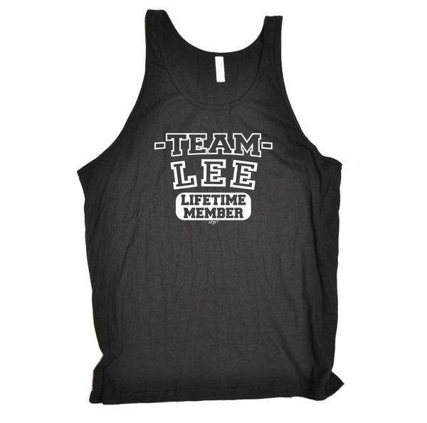 123t Funny Vest - Lee V2 Team Lifetime Member - Bella Singlet Top