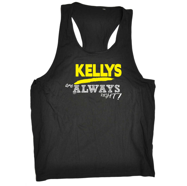 123t Funny Vest - Kellys Always Right - Bella Singlet Top