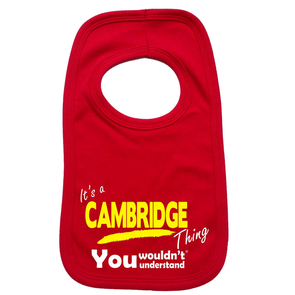 It's Cambridge Thing You Wouldn't Understand Baby Bib