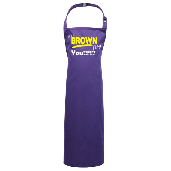 KIDS - It's A Brown Thing You Wouldn't Understand Cooking/Playtime Aprons